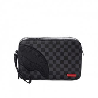BLACK HENNY SQUARE TOILETRY BAG